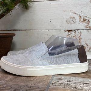 Toms Mens Size 10 Eu 43 Gray Canvas Slip On Shoes